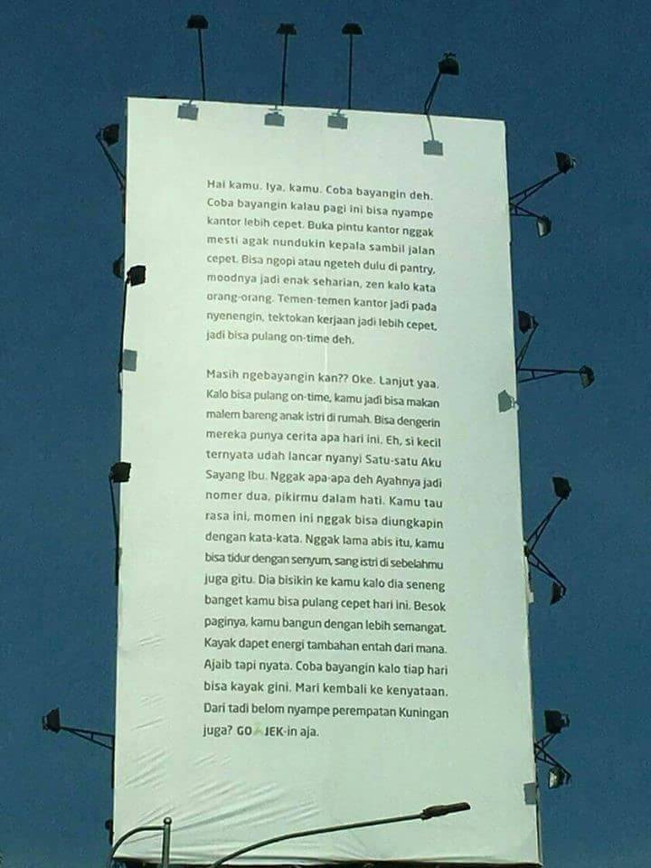 Iklan Gojek di Kuningan