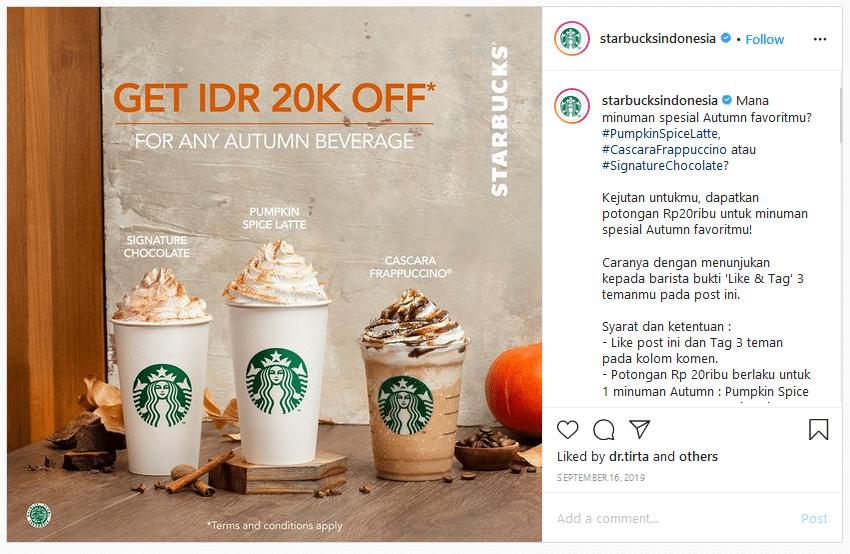 Copywriting Instagram Starbucks